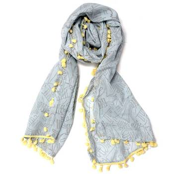 Grey Abstract Stole