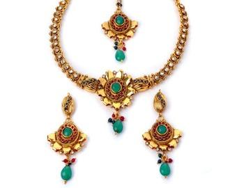Designer Floral Necklace Set