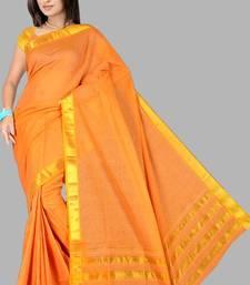 Buy Pavechas Mangalgiri Solid Cotton Sari DNO 309  cotton-saree online