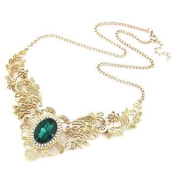 Emerald Victorian Love Necklace
