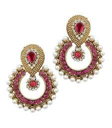 Buy Pearl traditional ethnic indian earring hoop online