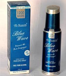 Buy AL NUAIM BLUE WAVE 100ML 1200 SHOTS PERFUME gifts-for-him online