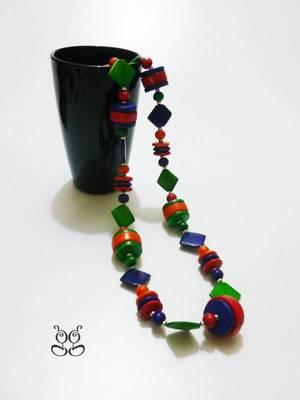 Multi colored Long Handicraft Necklace