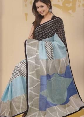Sarees Mal Mal Cotton Designer Prints With Blouse Piece D.No D1002
