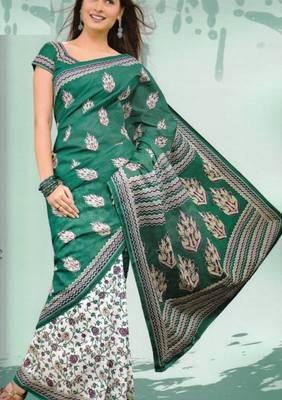 Sarees Mal Mal Cotton Designer Prints With Blouse Piece D.No D1008
