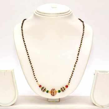 Anvi's black beads with stones and enamel beads