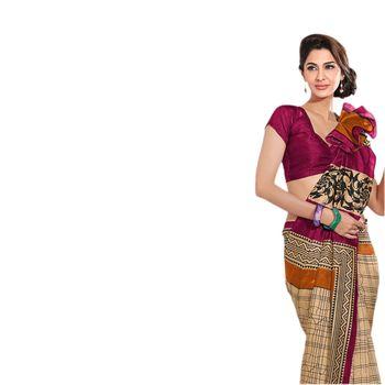 Hypnotex Bhagalpuri Cream Color Designer Saree Fig2335C