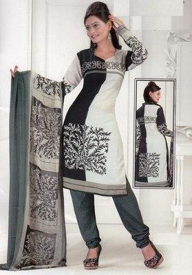 Dress Material Crepe Designer Prints Unstitched Salwar Kameez Suit D.No SJ1216