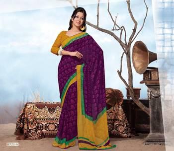ISHIN Georgette Multicolor saree BCSH-6722A