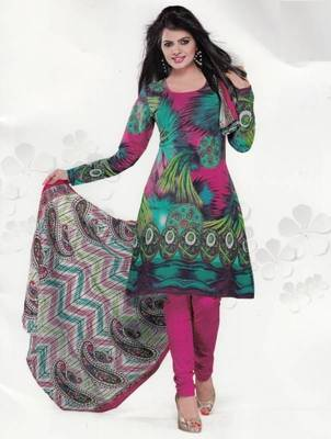 Cotton Dress Material Elegant Designer Unstitched Salwar Suit D.No 3524
