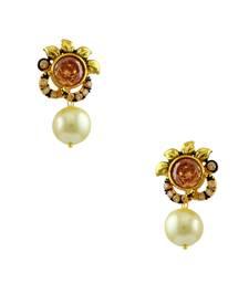 Buy Golden Beige Traditional Rajwadi Drop Earrings Jewellery for Women - Orniza Earring online