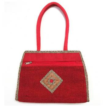 Red Jute Hand Bag - Eco Friendly Product