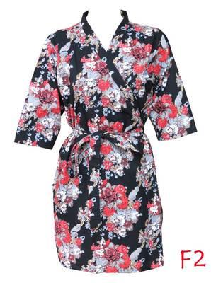 Floral cotton robe - knee length - nightwear - lounge wear - night wear - maternity wear - f2
