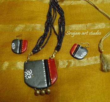 Grey and Red Clay jewelry
