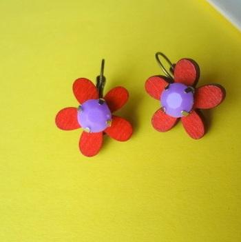 floral treat red n purple