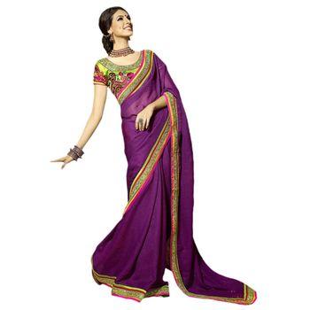 Hypnotex Lilen Cotton Purple Color Designer Dress Material Starplus7212