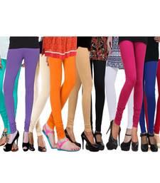Buy Multicolor Cotton Lycra Leggings Combo legging online