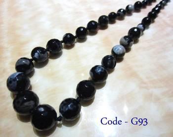 Black Banded Agate Necklace