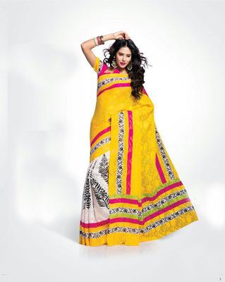 ISHIN Bhagalpuri Silk Multicolour Saree BCVIP-8502