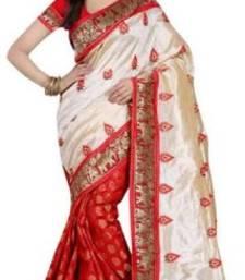 Buy Red Color Printed Bhagalpuri Silk Saree bhagalpuri-silk-saree online