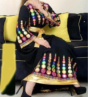Black cottan embroidered unstitched salwar with dupatta