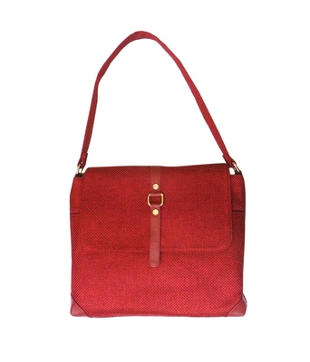 Officio Jute Handbag (Red)
