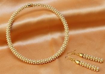 whitecolour pearl necklace set