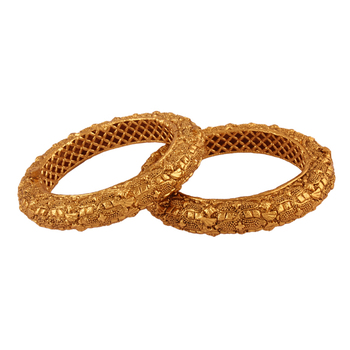 Ethnic Gold plated antique bangle