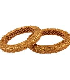 Buy Ethnic Gold plated antique bangle bangles-and-bracelet online