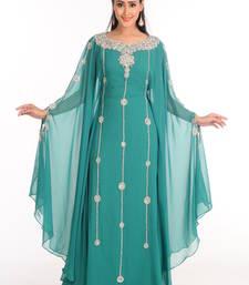 Buy Green arabian islamic kaftan crystal-abaya online