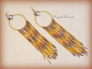 Trendy and stylish long seed beads earring