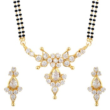 Black Mangalsutra Set With Earrings