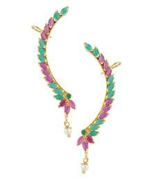 Buy Multi color CZ Designer Cuff Earring stud online