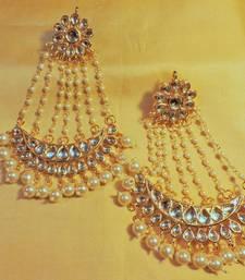 Buy jhoomer kundan and pearl danglers danglers-drop online
