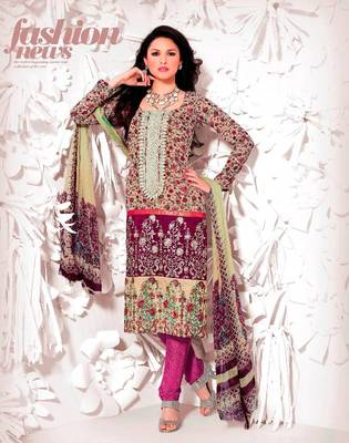 Elegant Aesthetic Karachi Heavy Embroidery Georgette with Crochet lace Salwar Kameez 5407A