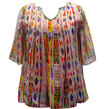 Poly chiffon with digital printing & in neck side bead workTop