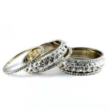 brass bangles kara churi set  size-2.4,2.6,2.8,2.10