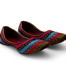 Buy multicolor Synthetic Leather party wear traditional footwear for women bellies-shoe online