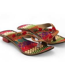 Buy multicolor Synthetic Leather casual wear traditional footwear for women eid-footwear online