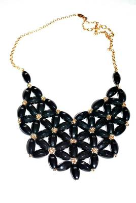 Statement black necklace