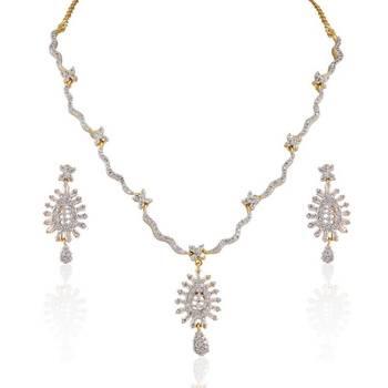 Heena Elegant collection pendant type necklace set