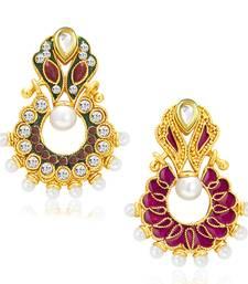 Buy Exotic Gold Plated Reversible Chandbali Earring For Women danglers-drop online