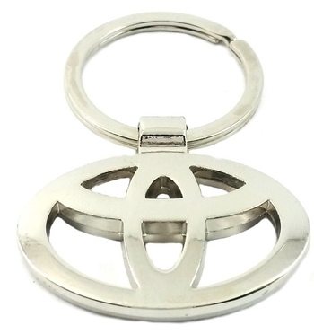 SuperDeals Toyota Metallic Ring Key Chain