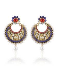 Buy Stylish Gold Plated Chandbali Earring For Women danglers-drop online