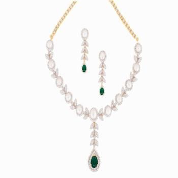 DIAMOND GRAINY NECKLACE Green