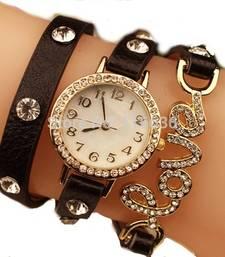 Buy Fency Bracelet Watch-Love Diamond  watch online