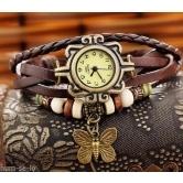 Letast designer breslet type buttrefly watch-brown