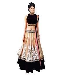Buy Chiku embroidered net semi stitched Lehengha choli with dupatta ghagra-choli online