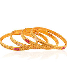 Buy Get-Gorgeous Gold plated fusion bangle bangles-and-bracelet online