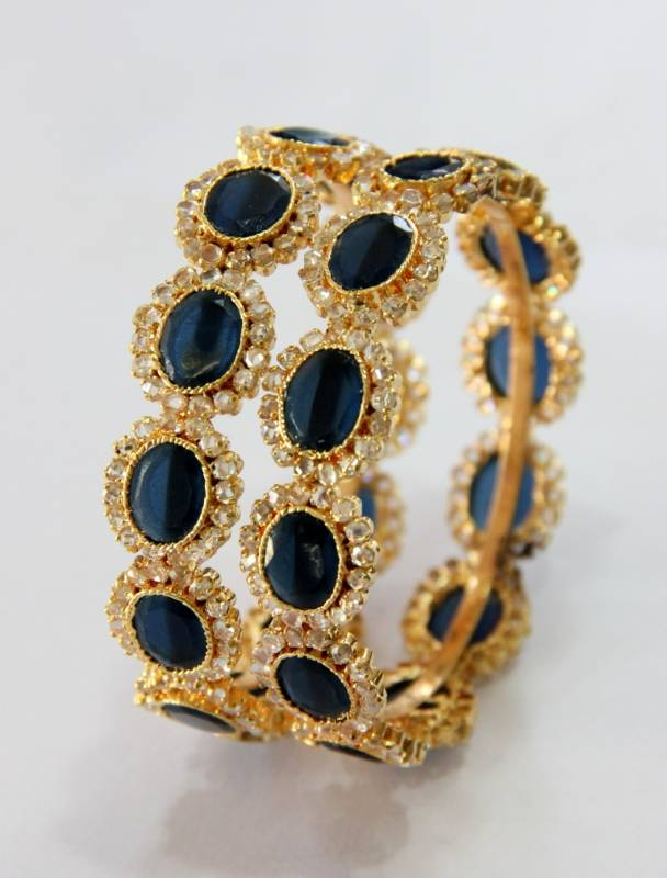 buy jewellery product online polki bangles blue indian sapphire diamond